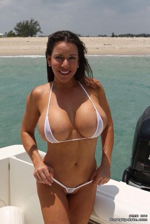 Busty bikini pornstar