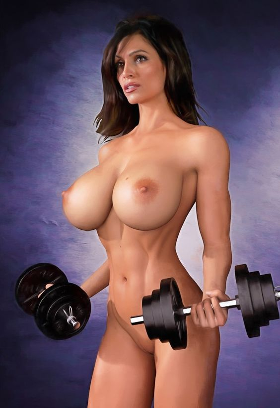Naked Women Lifting Weights